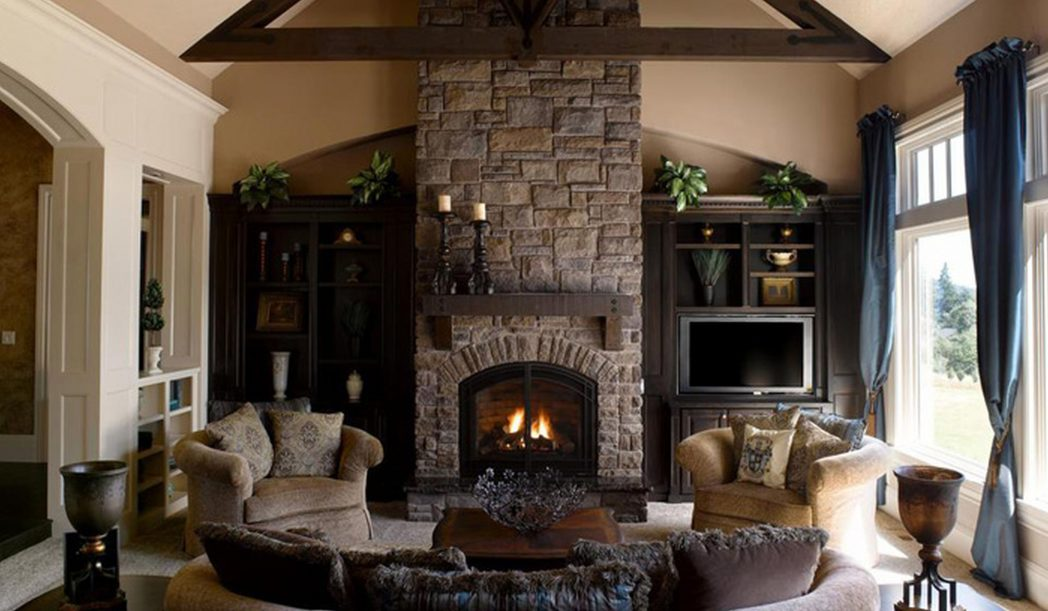 stacked-stone-fireplace-ideas